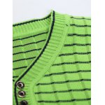 V Neck Ombre Striped Knitting Sweater deal