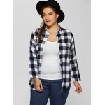 cheap Plus Size Plaid Shirt with Pocket