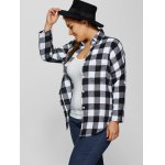 Plus Size Plaid Shirt with Pocket deal