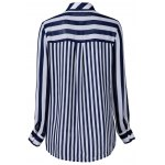 cheap Single Pocket Striped Shirt