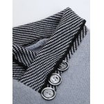 Shawl Collar Button Embellished Badge Sweater deal