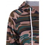 Pullover Camouflage Print Panel Hoodie deal
