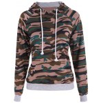 Buy Pullover Camouflage Print Panel Hoodie 2XL CAMOUFLAGE COLOR
