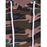 Pullover Camouflage Print Panel Hoodie photo