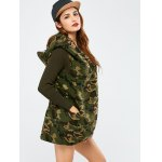 Camo Fuzzy Loose Hooded Coat deal