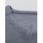 cheap V Neck Striped Selvedge Embellished Knitting Sweater