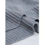 best V Neck Striped Selvedge Embellished Knitting Sweater