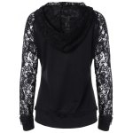 cheap Lace Insert Pocket Design Hoodie