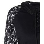 Lace Insert Pocket Design Hoodie deal