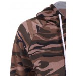 Pullover Camo Print Panel Hoodie deal