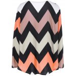 cheap Plus Size Zigzag Adjustable Sleeve Tee