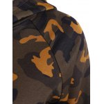 Drawstring Camo Print Panel Hoodie deal