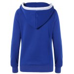 cheap Lace Up Contrast Hoodie