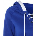 Lace Up Contrast Hoodie deal