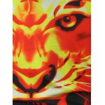 Fierce Fire Tiger Printed Pullover Hoodie for sale