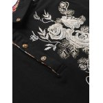 Florals Embroidered Polo Collar T-Shirt deal