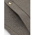Metal Button Embellished Stand Collar Woolen Coat for sale