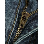 Tapered Fit Zip Fly Mid Waisted Jeans deal