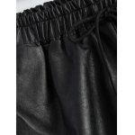 Plus Size Pocket Design Faux Leather Shorts deal