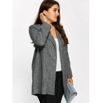 cheap Open Front Ruffle Coat