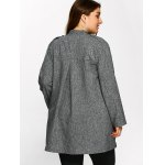 Open Front Ruffle Coat deal