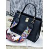 Metal PU Leather Handbag With Colored Strap deal