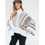Jacquard Asymmetric Poncho Sweater deal