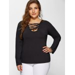 cheap Plus Size Long Sleeves Tee
