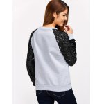 Sequins Spliced Raglan Sleeve Sweatshirt for sale