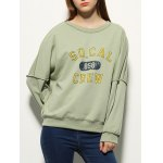 cheap Letter Print Drop Shoulder Sweatshirt