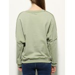 Letter Print Drop Shoulder Sweatshirt for sale