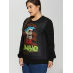 Plus Size Halloween Skulls Print Sweatshirt deal