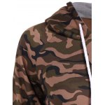 Pullover Camo Print Drawstring Hoodie deal