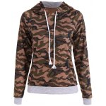 Pullover Camo Print Drawstring Hoodie