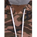 Pullover Camo Print Drawstring Hoodie photo