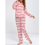 Deer Print Christmas Pajamas Set