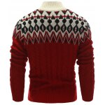 Zigzag Pattern Button Up Cable Knit Sweater deal