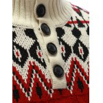 best Zigzag Pattern Button Up Cable Knit Sweater