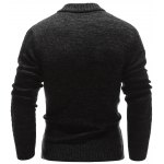 Stand Collar Half Zip Up Cable Knit Sweater deal