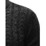 Stand Collar Half Zip Up Cable Knit Sweater for sale