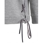 Lace-Up Fleece Pullover Sweatshirt photo