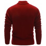 Half Zip Up Cable Knit Pullover Sweater deal