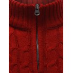 Half Zip Up Cable Knit Pullover Sweater for sale