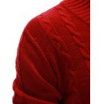 Rib Hem Cable Knit Pullover Sweater for sale