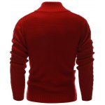 Rib Hem Cable Knit Pullover Sweater deal