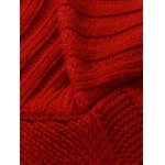 best Rib Hem Cable Knit Pullover Sweater