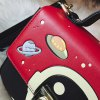 best Metal Universe Pattern Colour Splicing Crossbody Bag