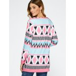 Open Front Geometric Print Coat for sale