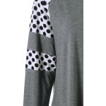 Plus Size Polka Dot Insert Tee for sale