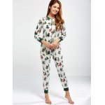cheap Christmas Tree Print Footed Pajamas